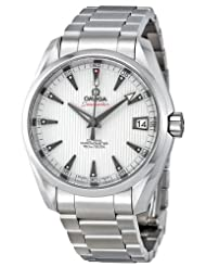 Omega Men's 23110392154001 Seamaster Aqua Terra White Dial Watch