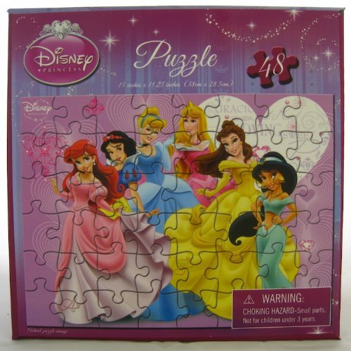 Cheap Cardinal Disney Princess 48 Piece Puzzle – Six Princesses with Hearts in Background (B00526RLPO)
