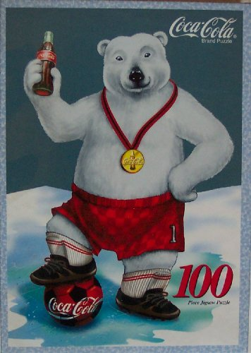 Coca Cola; Soccer Bear, 100 Piece Jigsaw Puzzle - 1