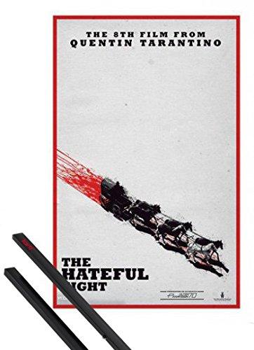 Poster + Sospensione : The Hateful Eight Poster Stampa (91x61 cm) Teaser, Quentin Tarantino E Coppia Di Barre Porta Poster Nere 1art1®