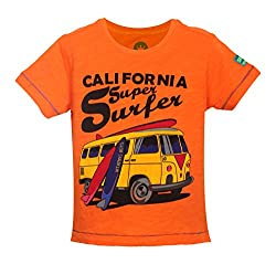 Vitamins Baby Boys' T-Shirt (08Tb-751-1-Orange_Orange_1 - 2 Years)