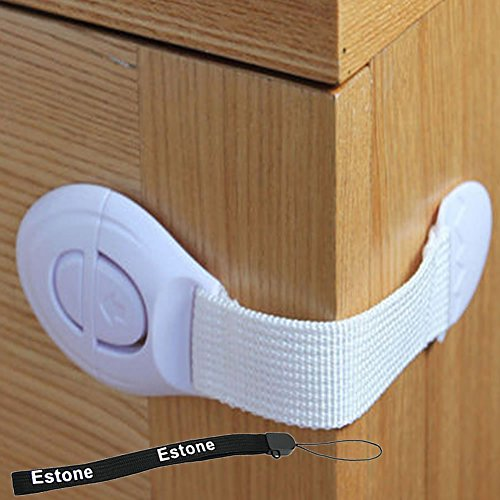 Estone® Baby Kids Child Toddler Safety Door Lock Fridge Drawer Toilet Cupboard Cabinet (10pcs) - 1