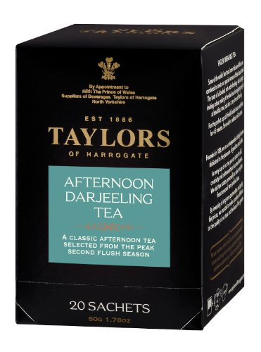 Taylors of Harrogate, Black Tea, Afternoon Darjeeling Tea, 20 Count Wrapped Tea Bag