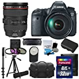 Canon EOS 6D 20.2 MP CMOS Digital SLR Camera (Mail In Rebate $300 Off) with 3.0-Inch LCD and :	Canon Zoom Wide Angle-Telephoto EF24-105mm IS f/4 L USM Lens Kit UV Filter Kit With Extra Battery +Tripod + Monopod with 32GB Complete Deluxe Accessory Bundle And Much More!