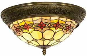 cucina color tiffany : 5LL-5355 Lampada da soffitto - Plafoniera di vetro - Stile Tiffany ...