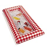 Red and White Checkered Inflatable Buffet and Salad Bar Serving Station