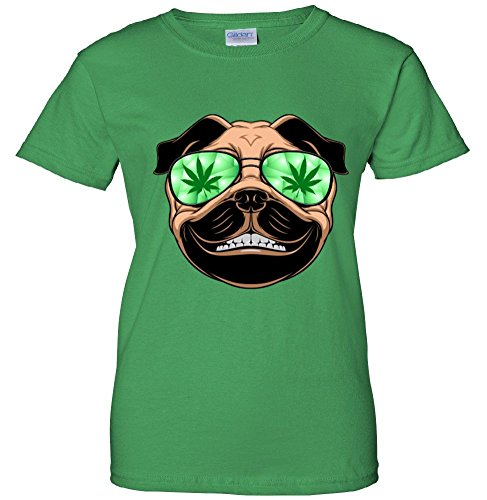 High Off Weed Smiling Pug Women's T-Shirt