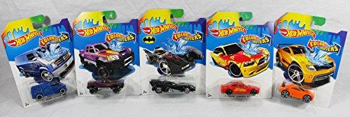 Set of 5: Hot Wheels Color Shifters - Batmobile, Drift Tech, Dodge Charger, Mega-Duty Truck, Dodge Van (Color Change Hotwheels Cars compare prices)