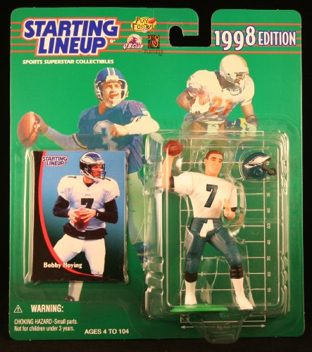 BOBBY HOYING / PHILADELPHIA EAGLES 1998 NFL Starting Lineup Action Figure & Exclusive NFL Collector Trading Card - 1
