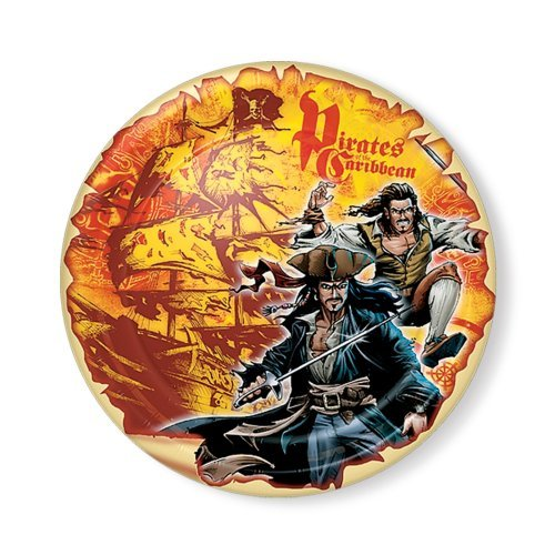 "Pirates of the Caribbean 7"" Dessert Plates - 8 Count - 1"