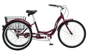 Schwinn Meridian Adult 26-Inch 3-Wheel Bike (Black Cherry)