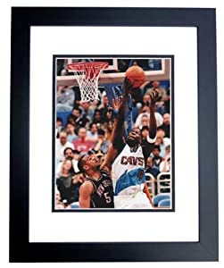 Shawn Kemp Autographed Hand Signed Cleveland Cavaliers 8x10 Photo - BLACK CUSTOM... by Real+Deal+Memorabilia