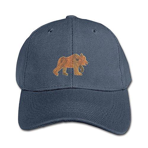 KIDDOS Little Boys' And Girls' Brown Bear Baseball Cap Hip Hop Flat Hat - Adjustable Hat Navy