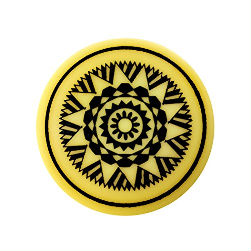 Indiavibes Carrom Board Striker Plastic Color With Design (Black)  available at amazon for Rs.199