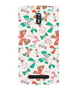 Butterflies Plants Grass 3D Hard Polycarbonate Designer Back Case Cover for Oppo Find 7