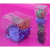 """50 PCS 3x3x3"""" Clear Plastic PVC Boxes for Party Favor Wedding, retail products packaging"""