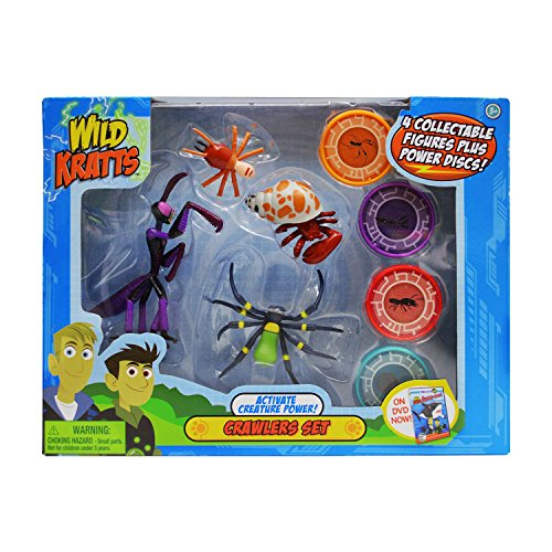 Wild Kratts Creature Power 4 Pack - Crawlers Set
