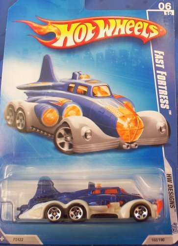 2009 Hot Wheels Designs #06 FAST FORTRESS Blue and White Collectible Car