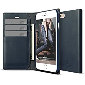 iPhone 6S Case, elago S6 Genuine Leather Wallet Case for the iPhone 6/6S (4.7inch) - eco friendly Retail Packaging (Genuine Leather Wallet - Jean Indigo)