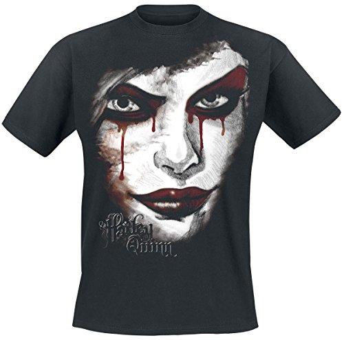 Harley-Quinn-Face-Camiseta-Negro-S