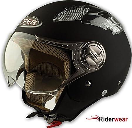 Casque de moto Viper RS-16 Jet casque moto motorcycle Couleur Noir Mat S