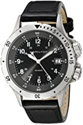 Hamilton Men's H74451833 Khaki Field Analog Display Swiss Quartz Black Watch