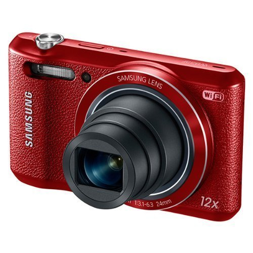 Samsung WB35F 16.2MP Smart WiFi & NFC Digital Camera with 12x Optical Zoom and 2.7″ LCD (Red) (Certified Refurbished)