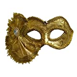 Gold Brocade Venetian Masquerade Costume Mask