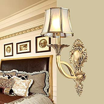 Copper Bedside Wall Lamps : CRF All copper lamp / American wall / wall lights / bedside wall lamp - - Amazon.com