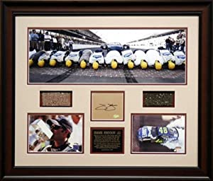 JOHNSON, JIMMIE FRAMED BRICKYARD PANO wAUTO CARD BRICK TRACK - Mounted Memories... by Sports Memorabilia