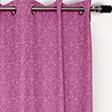 "House This! Cotton Window Curtain - 48""x60"", Pink (CR-566B)"