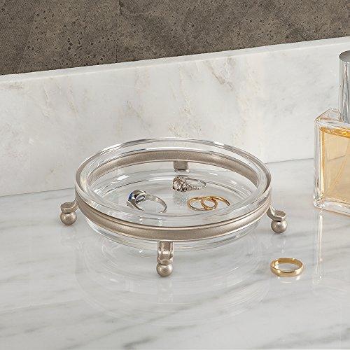 InterDesign York Lyra Vanity Dish, Satin/Clear