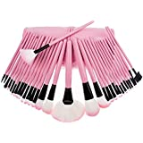 Willtoo 32Pcs Pouch Bag Case Superior Soft Cosmetic Makeup Brush Set Kit PINK