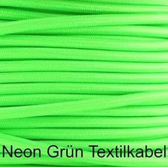 neon gr n textilkabel stoffkabel lampen kabel 2 adrig 2x0 75 beleuchtung. Black Bedroom Furniture Sets. Home Design Ideas