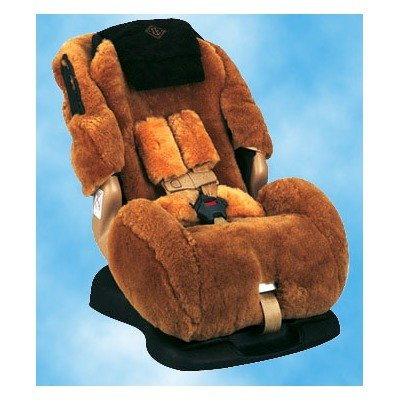 Custom Sheepskin Convertible Car Seat Cover Seat Model: Britax Marathon, Color: Oak