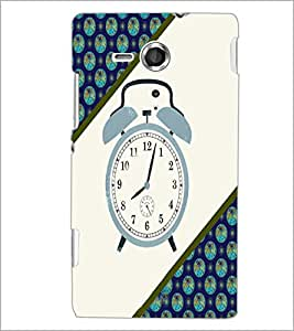 Printdhaba Alarm Watch D-4268 Back Case Cover For Sony Xperia Sp