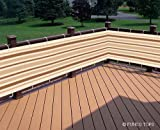 """IVORY / KHAKI / BROWN STRIPED PRIVACY SCREEN NET FOR DECK, BALCONY, FENCE, POOL OR PATIO. 34"""" H x 184"""" L INCHES"""