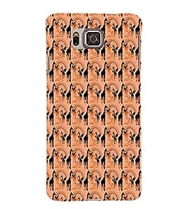 EPICCASE swag giraffe Mobile Back Case Cover For Samsung Galaxy Alpha (Designer Case)