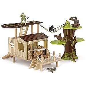 Papo Bush Outpost Toy Figure Playset