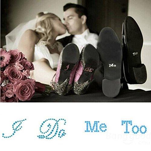 Saver Faccio me too adesivi di scarpe da sposa strass scarpe sticker decorazione di nozze