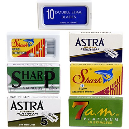 Double Edge Safety Razor Blade Variety Pack - 100 Blades! (De Razor Blades compare prices)