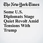 Some U.S. Diplomats Stage Quiet Revolt Amid Tensions With Trump | Mark Landler