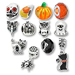 Charm Bracelet Beads and Charms for Pandora Bracelets Halloween Party
