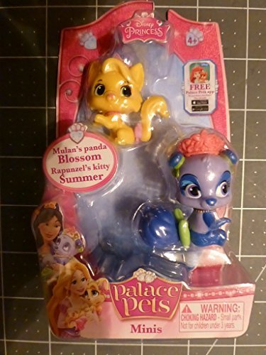 Disney Princess Palace Pets Minis - Mulan's Panda Blossom and Rapunzel's Kitty Summer