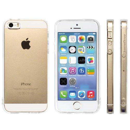 Highend berry 【 iPhone 5 / 5s 】 ストラップ ホール 保護キャップ 付き ソフト TPU ケース クリア