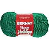 Spinrite Happy Holidays Sparkle Yarn, Glittery Green