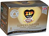 ZIP SUPERSTARTER WRAPPED FIRELIGHTERS 8 CUBES BURNS UPTO 26 MINUTES NO KINDLING REQUIRED