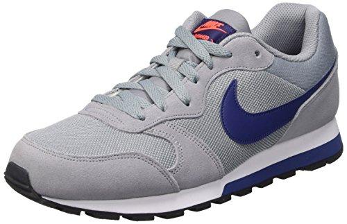 Nike Md Runner 2 Scarpe da Ginnastica, Multicolore (Stealth/Lyl Bl/Ttl Crmsn/White), 46