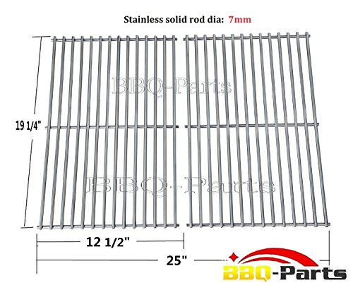 Hongso SCS612 BBQ Stainless Steel Wire Cooking Grid Replacement for Select Brinkmann, Charmglow and Turbo Gas Grill Models, Set of 2 (Turbo Sts Grill Parts compare prices)