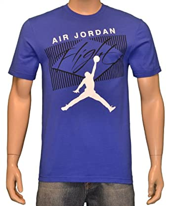 Jordan Nike Air Men's Flight Jumpman T-Shirt Blue-XL